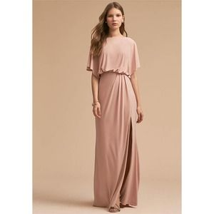 BHLDN Size 4 Blush Pink Flowy Lena Maxi Dress